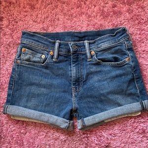 Levis vintage high rise denim shorts